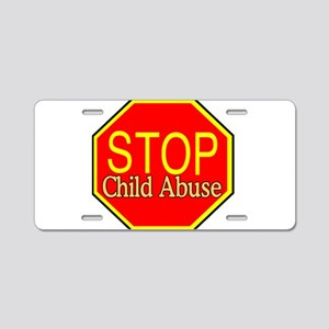 Stop Abuse Aluminum License Plate